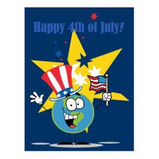 Feliz el 4 de julio tarjetas postales