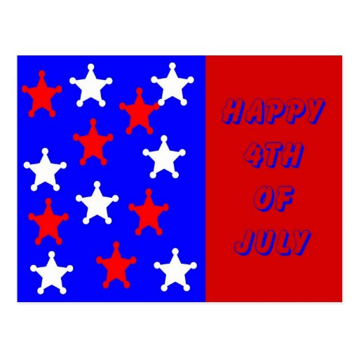 Feliz el 4 de julio tarjeta postal
