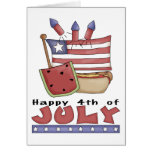 Feliz el 4 de julio tarjetas