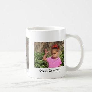 Feliz, el día de madres, gran Grandma. Taza