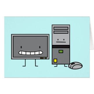 Feliz ÉL tarjetas de la familia de ordenador