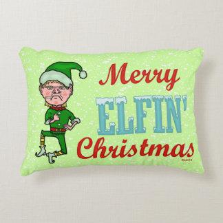 Feliz embaucamiento Elfin divertido de Bah del Cojín Decorativo