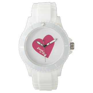 Feliz en reloj del amor