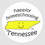 Feliz en Tennessee Pegatina Redonda