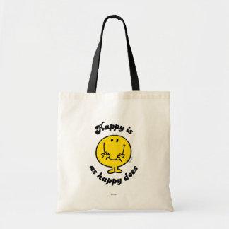 Feliz es como feliz hace bolsa de mano