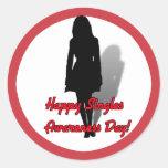 ¡Feliz escoge día de la conciencia! Pegatinas Redondas