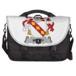 Feliz escudo de la familia bolsas para portátil