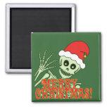 Feliz esqueleto de Navidad Imán Para Frigorifico