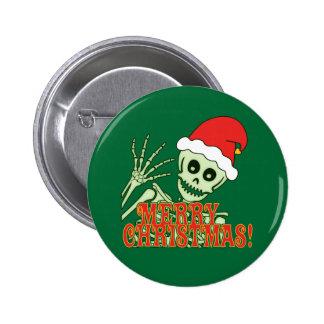 Feliz esqueleto de Navidad Pin