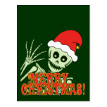 Feliz esqueleto de Navidad Postal