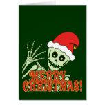 Feliz esqueleto de Navidad Tarjeta De Felicitación