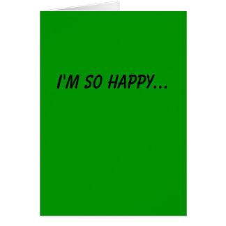 Feliz estamos a través de tarjeta