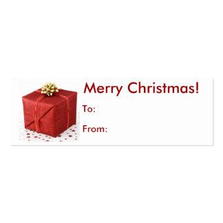 Feliz etiqueta del regalo de Navidad