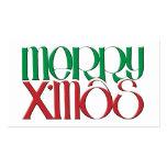 Feliz etiqueta del regalo de X'mas 3D Plantillas De Tarjetas De Visita