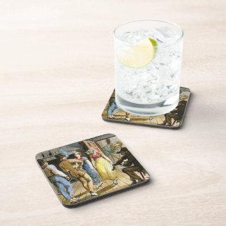 Feliz fabricación de Pavel Svinyin- en el mesón Posavasos De Bebida