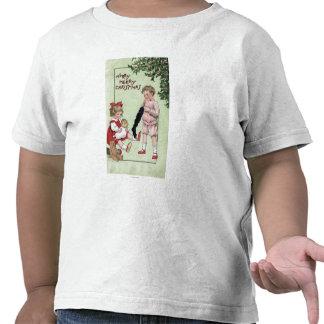 Feliz feliz ChristmasKids con los juguetes por el Camiseta