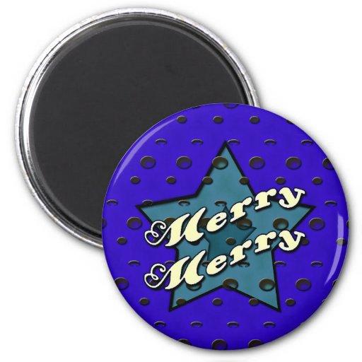 Feliz feliz estrella azul imanes para frigoríficos