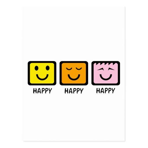 Feliz feliz feliz postal