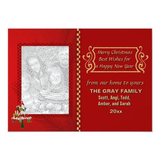 Feliz foto del tablero de damas 2 del brillo del invitación 12,7 x 17,8 cm