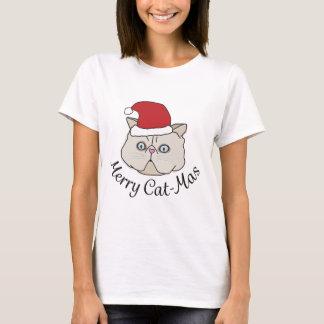 Feliz gato del navidad - camiseta divertida de