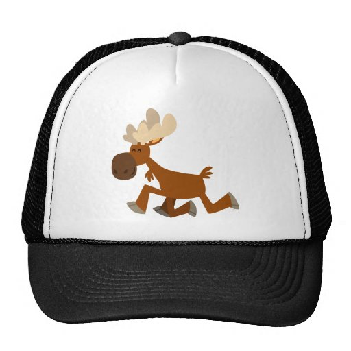 Feliz gorra del camionero de los alces del dibujo