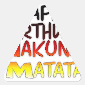 Feliz gráfico inspirado de Hakuna Matata del Pegatina Triangular