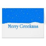 Feliz Greekmas - tarjeta de Navidad griega