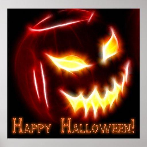 Feliz Halloween 1 con el texto Poster