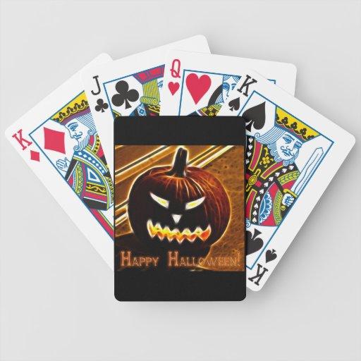 Feliz Halloween 2 con el texto Baraja De Cartas
