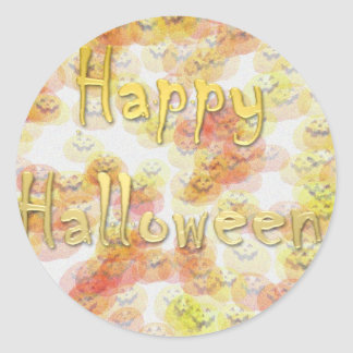 Feliz Halloween 3 Pegatina Redonda