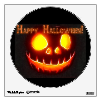 Feliz Halloween 4 con el texto Vinilo