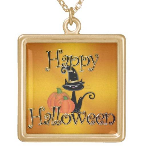 Feliz Halloween 7 Colgante Cuadrado