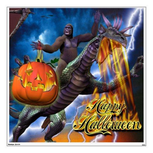 Feliz Halloween 7 etiquetas de la pared Vinilo Adhesivo