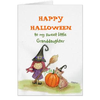 Feliz Halloween a mi nieta Tarjeta De Felicitación