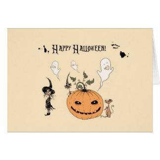 Feliz Halloween - a todo color Felicitación