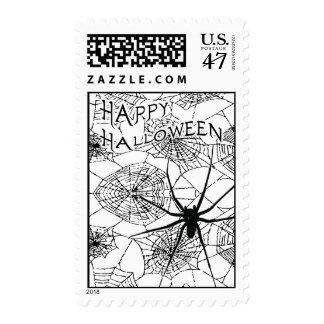 feliz Halloween: araña fantasmagórica: Sello