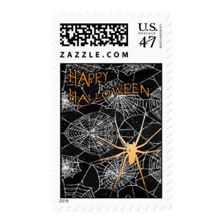 feliz Halloween: araña fantasmagórica: Sello Postal
