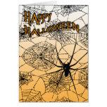 feliz Halloween: araña fantasmagórica: Tarjeta De Felicitación