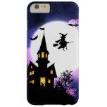 Feliz Halloween asustadizo de la casa encantada Funda Barely There iPhone 6 Plus