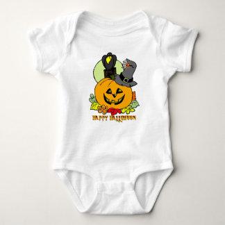 Feliz Halloween - calabaza, enredadera del niño Body Para Bebé