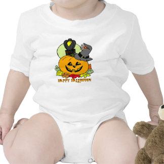 Feliz Halloween - calabaza, enredadera del niño de Camiseta