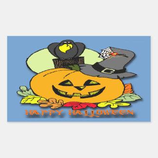 Feliz Halloween - calabaza, pegatina del