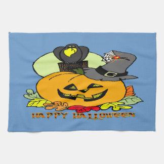 Feliz Halloween - calabaza, toallas de cocina del