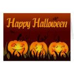 Feliz Halloween - calabazas Tarjeta