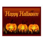 Feliz Halloween - calabazas Tarjetas Postales