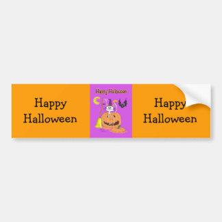 ¡Feliz Halloween Pegatina De Parachoque