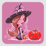 Feliz Halloween - Calcomanías Cuadradases