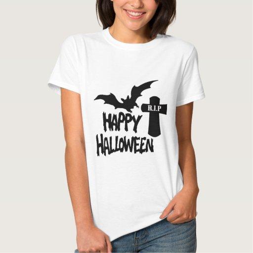 Feliz Halloween - camiseta menuda de las señoras Remeras