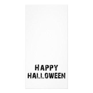 Feliz Halloween capital del Grunge Tarjetas Fotográficas