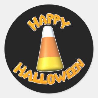 Feliz-Halloween-Caramelo-Maíz Pegatina